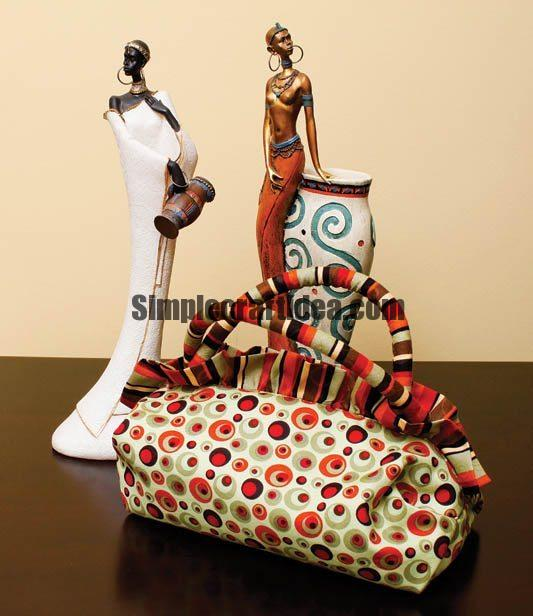 Sew the bag in the african style
