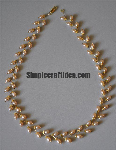 How to weave necklace