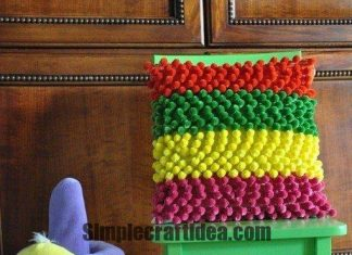 To create a multi-colored pillows