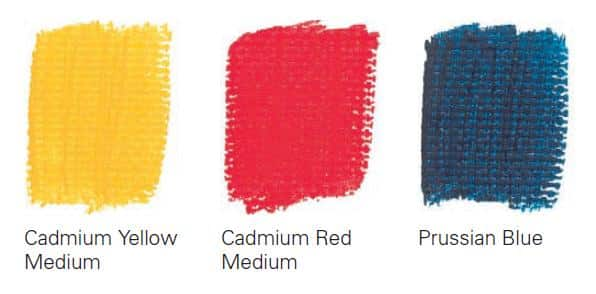 As of 7 colors to get 38 (mix of acrylic paints)