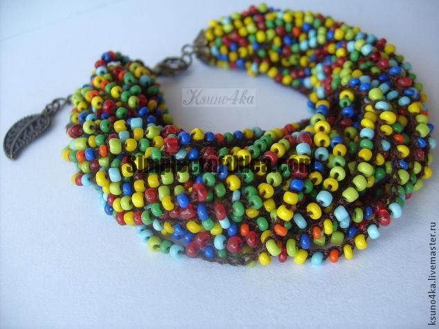 """Bracelet in the style of """"Ethno"""" Bead"""