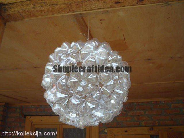 Ball of plastic bottles