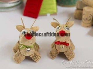 Friendly cork reindeer