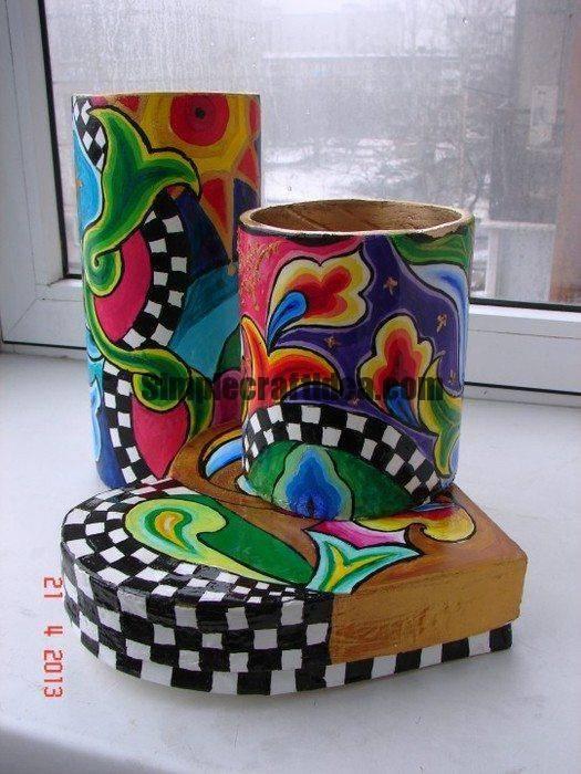 Cardboard tube vase