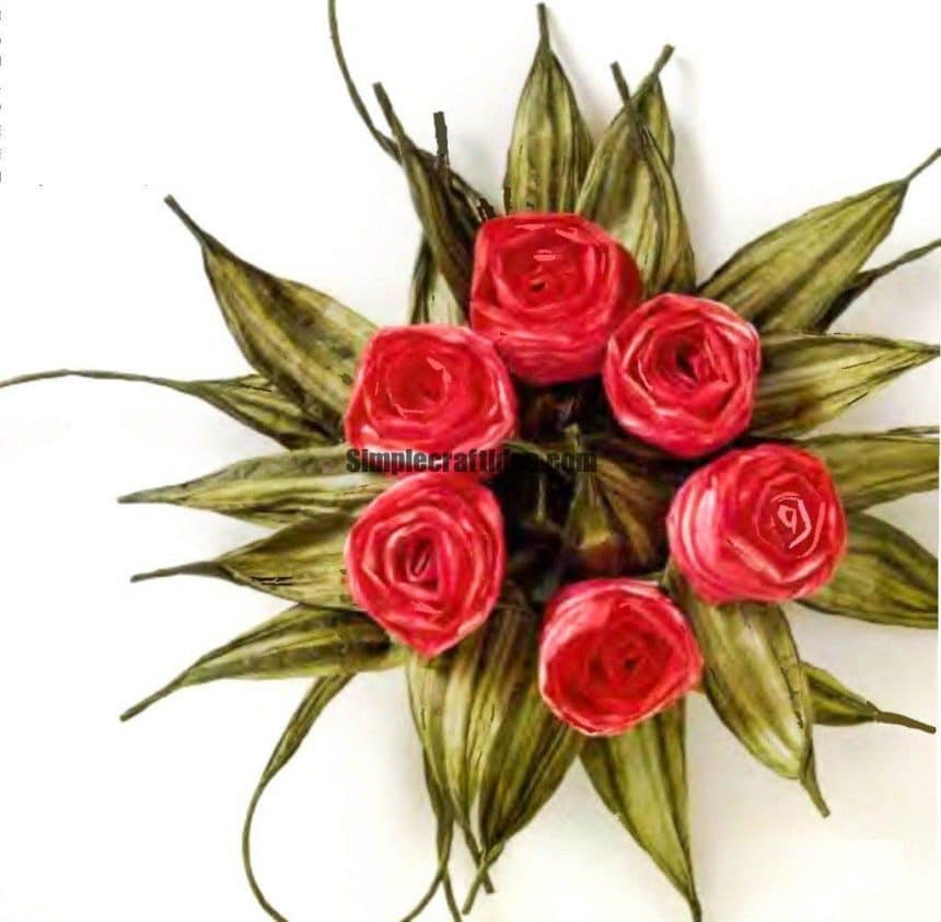 Rose of paper rope
