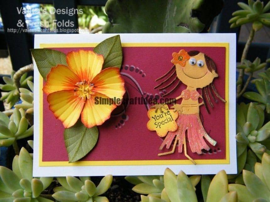 Paper hibiscus