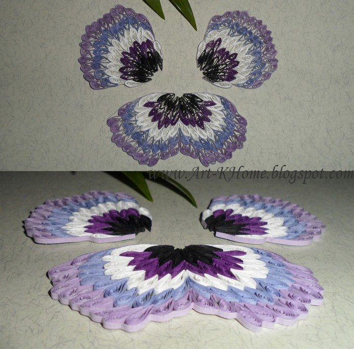 how to paper quilling pansy flower