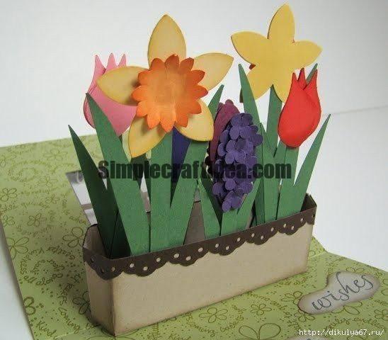 Window flowers card