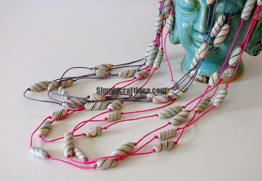 How to make Striped beads