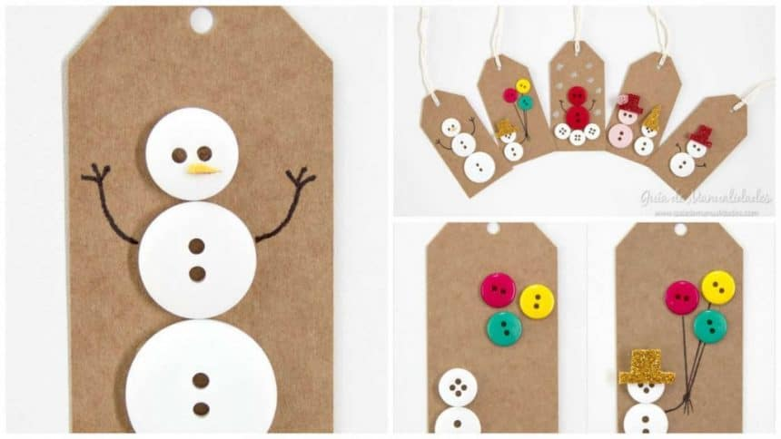 5 Ideas for Christmas tags with buttons