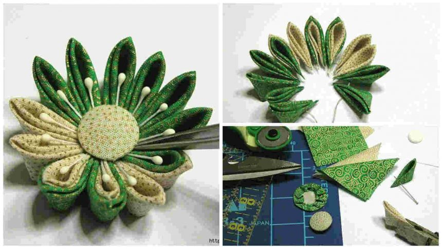 How to Make Kanzashi flower- Japanese hair ornaments