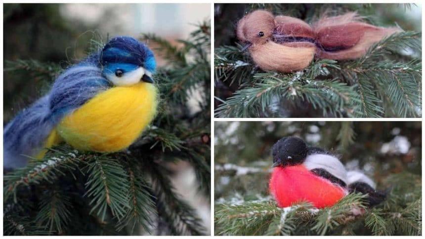 How to make wool bird
