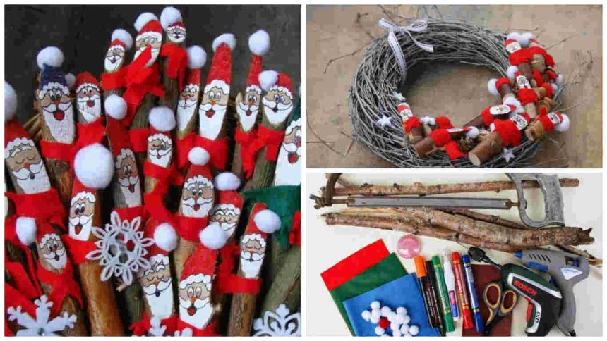 How to make Santa Clauses From Tree