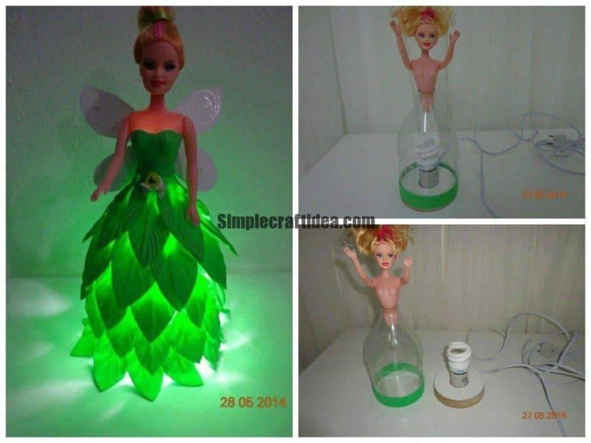 Nightlight of Barbie dolls