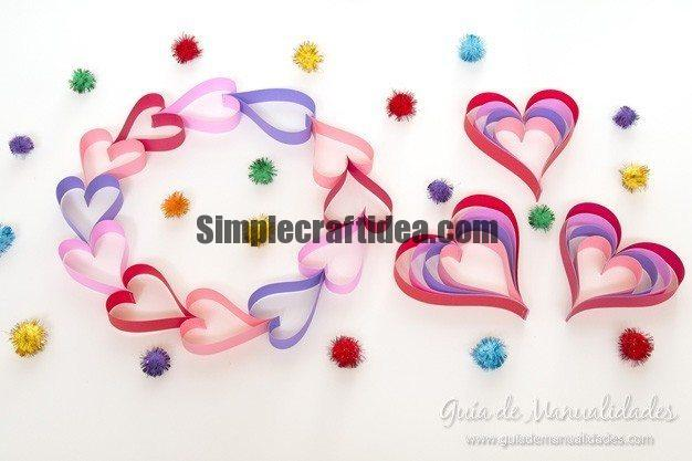 Paper hearts for Valentine