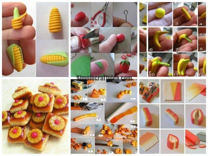 Polymer clay miniature tutorials