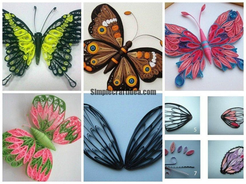Quilling Butterflies Simple Craft Ideas