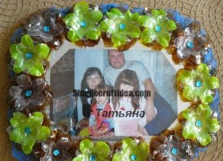 Photo frames from plastic bottles