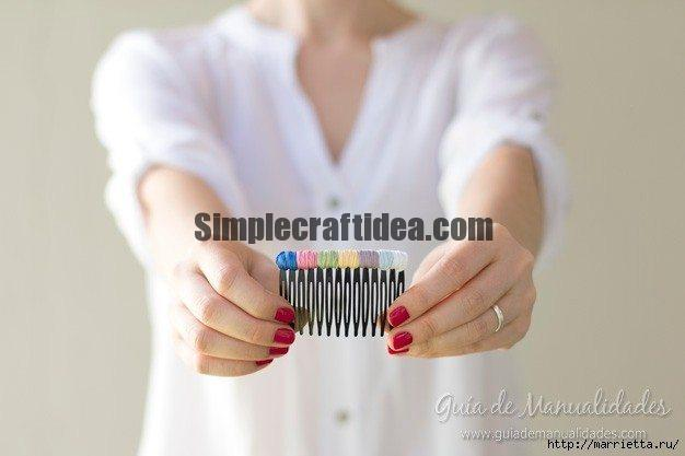 Decorating comb for hair thread threads