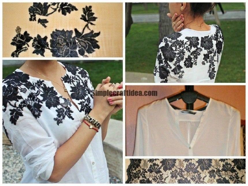 Lace applique on the blouses