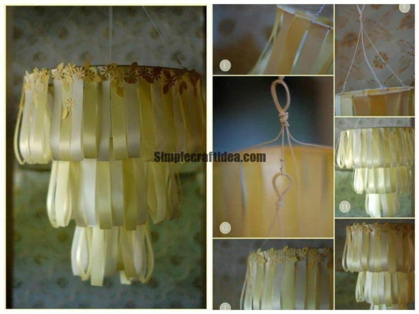 How to make Ribbon Chandelier
