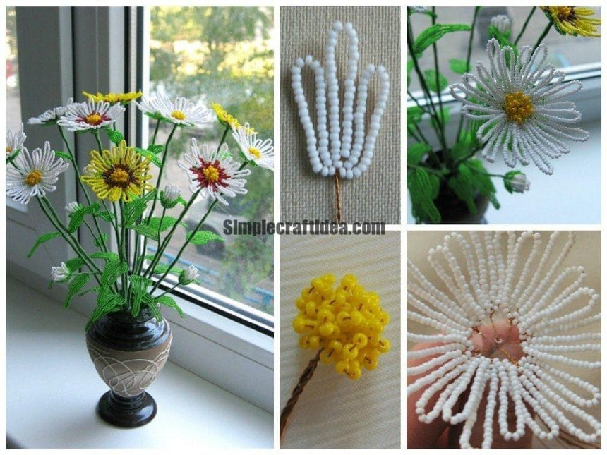 Bead daisies