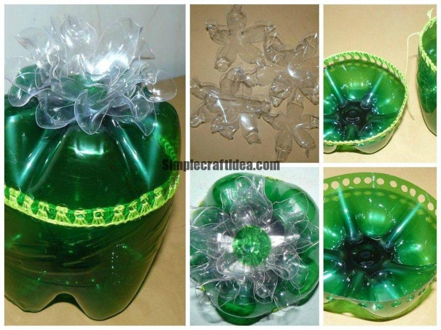 Jewellery casket from a plastic bottle