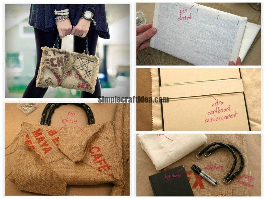 Creative burlap bag
