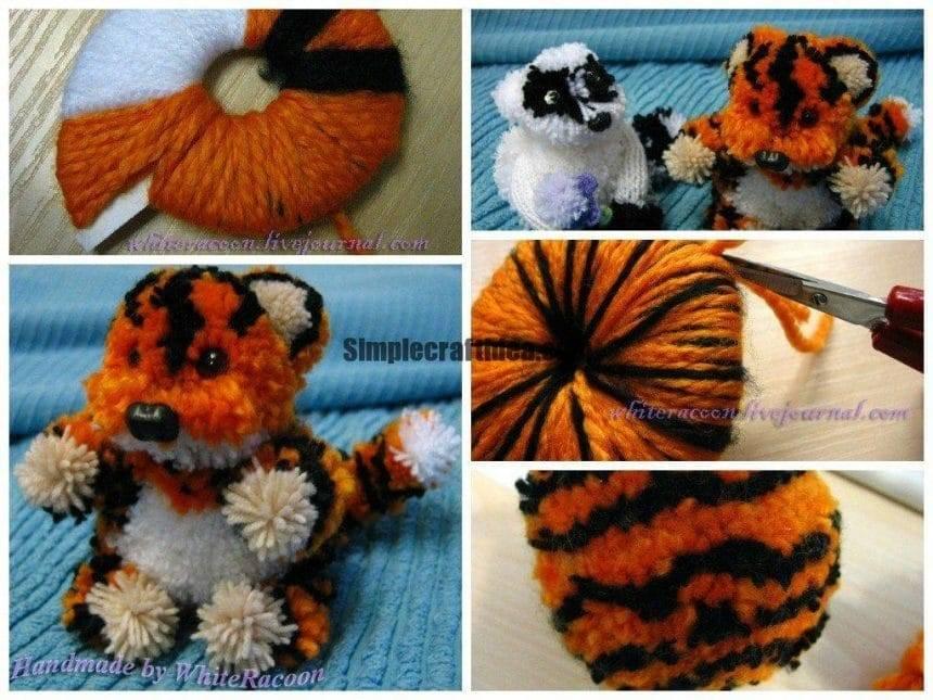 Tiger of pompons