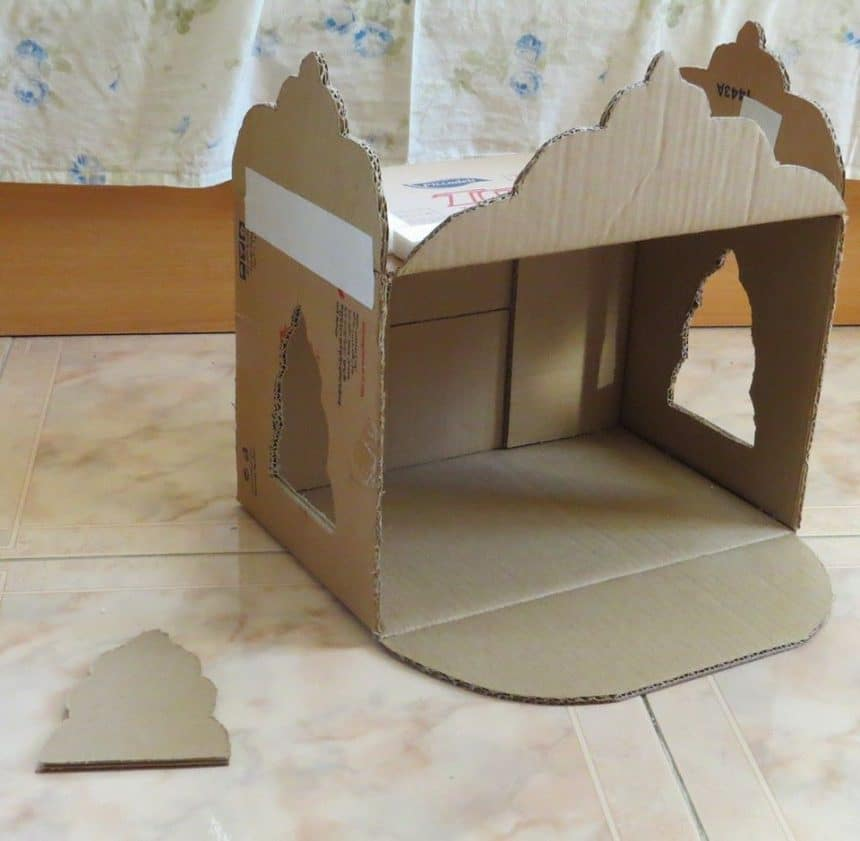 Pooja Mandir From A Carton Simple Craft Ideas