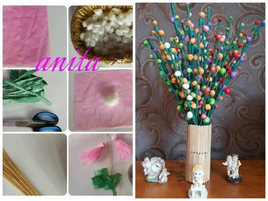 Handmade plastic flowers
