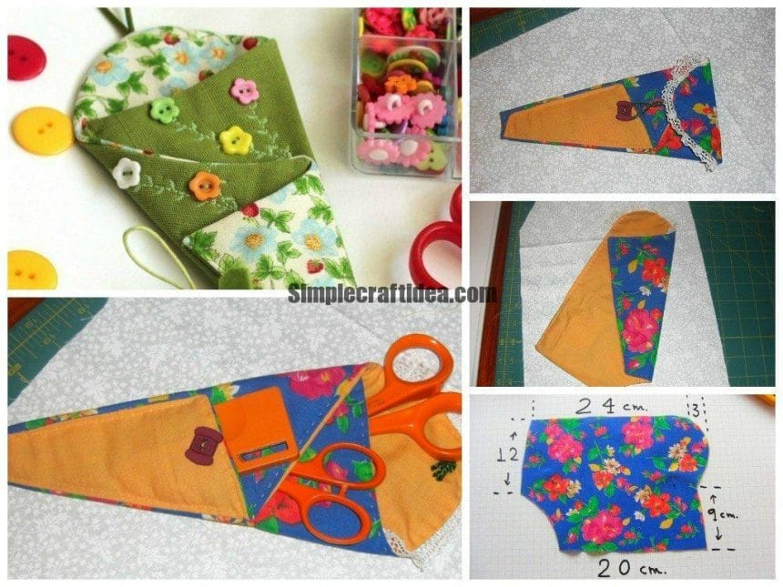 How to sew a cover for scissors