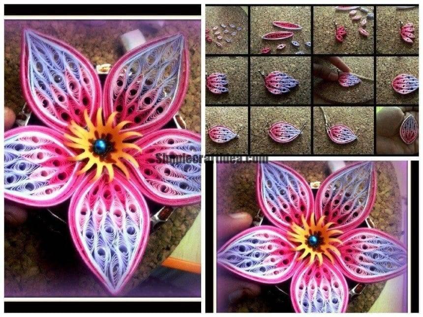 Composite element flower petal