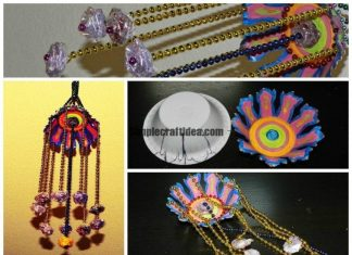 Hanging wall craft with bead chain