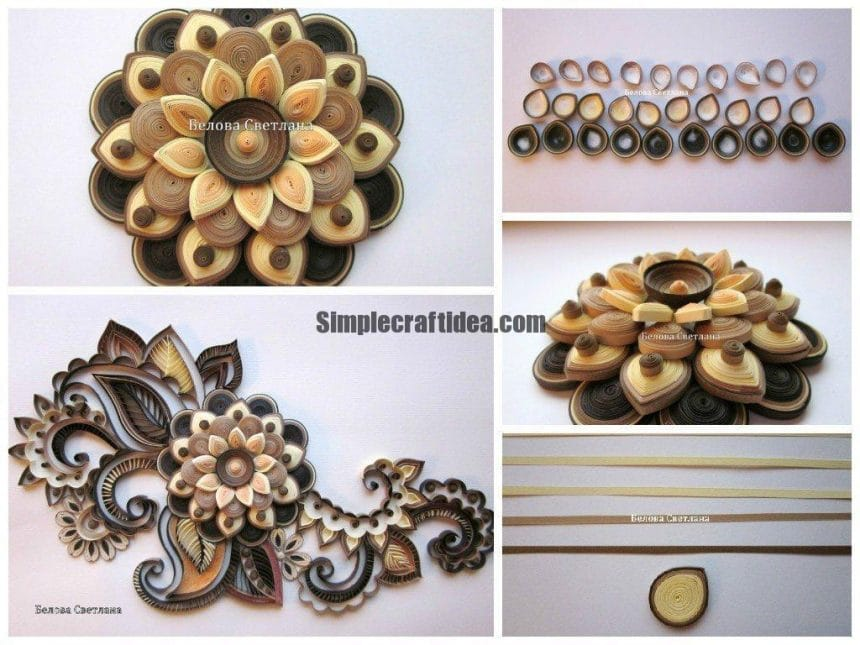 Decorative quilling flower
