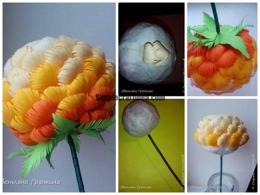 Paper chrysanthemum
