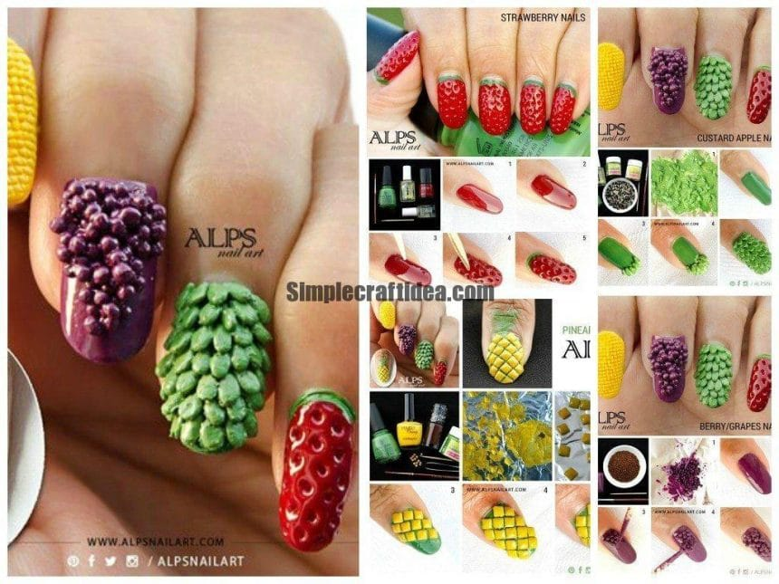 Creative fruit nails