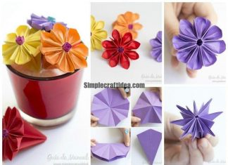How to make an origami water lily
