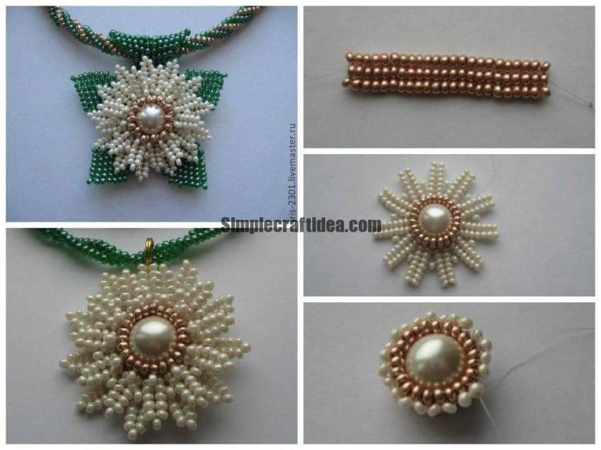 Weaving daisy pendant