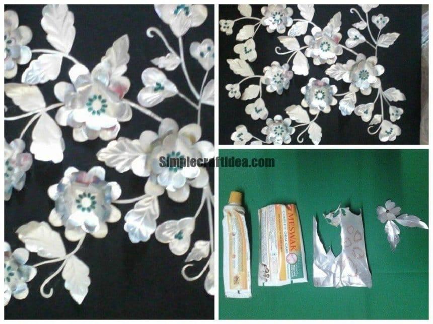 Empty toothpaste tubes flowerprocedure