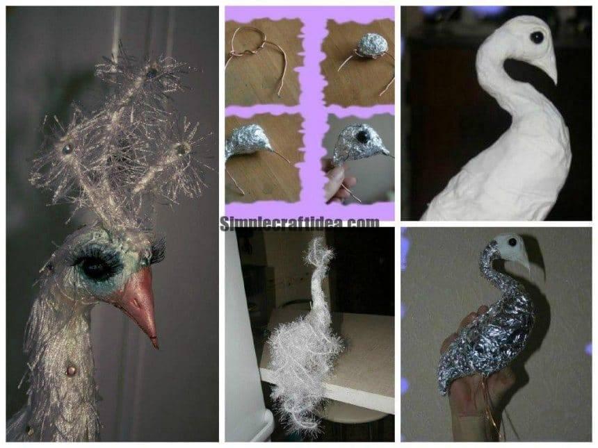 Handmade albino peacock