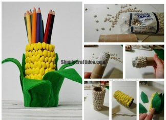Corn beans pencil holders