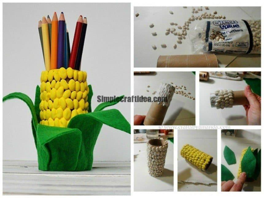 Corn beans pencil holders
