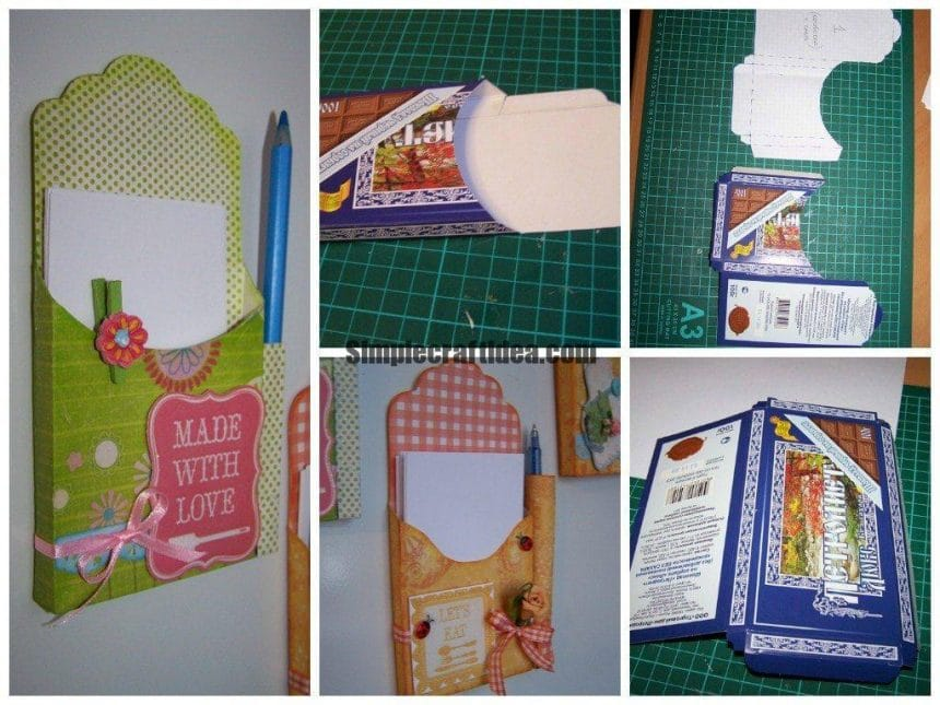 Writing pad organizer