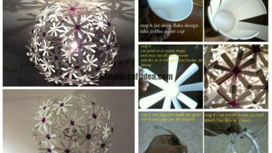 Coffee paper cup lamp