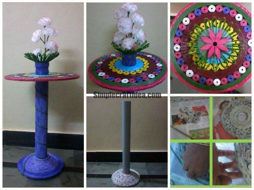 Show table creation using news paper