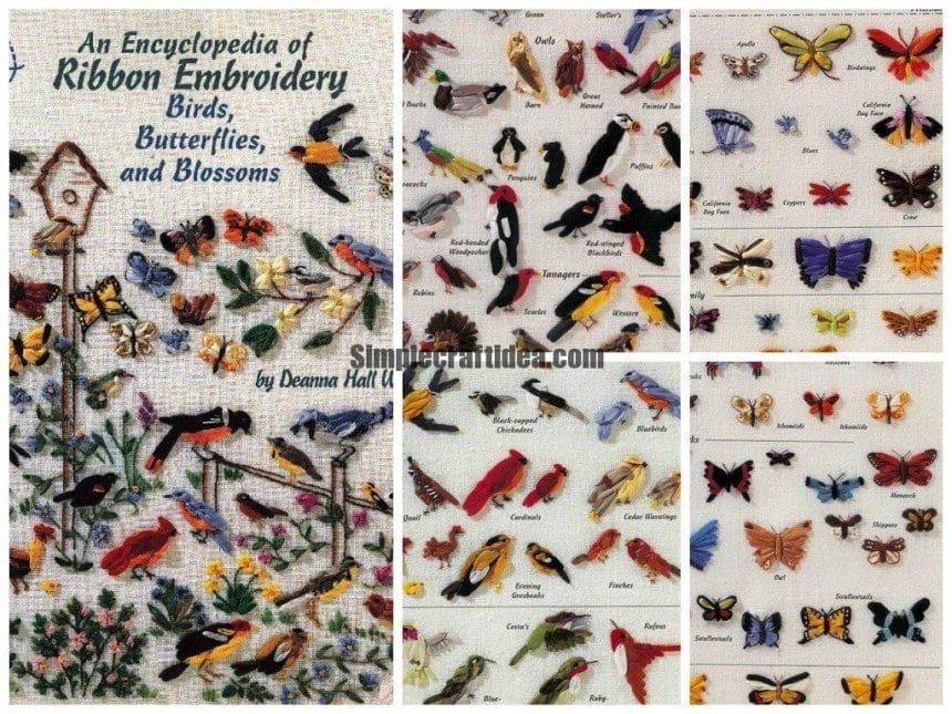 An encyclopedia of ribbon embroidery birds, butterflies, and blossoms