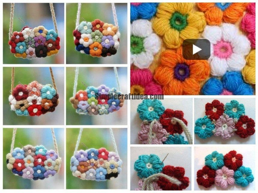 Puff flower bag