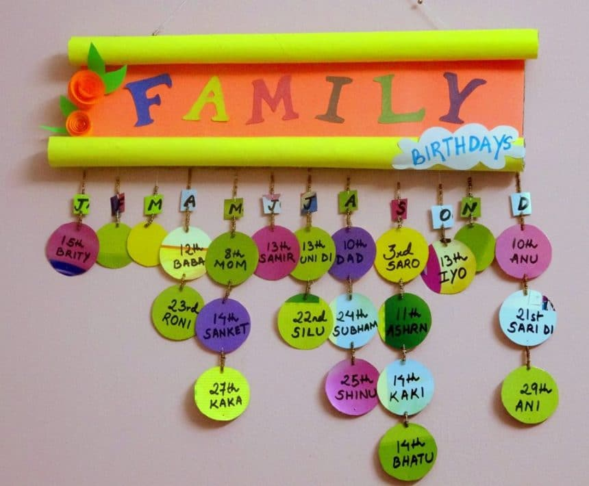 wall hangings craft ideas birthday reminder wall hanging simple craft ideas 5695