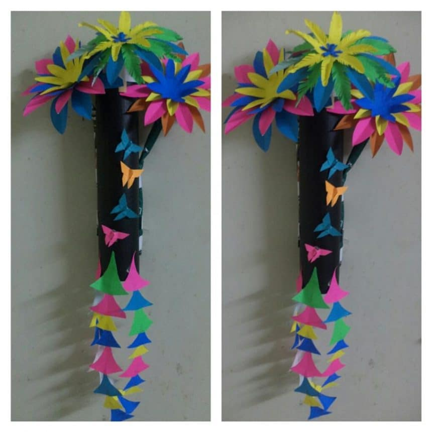 Flower Wall Hanging Simple Craft Ideas